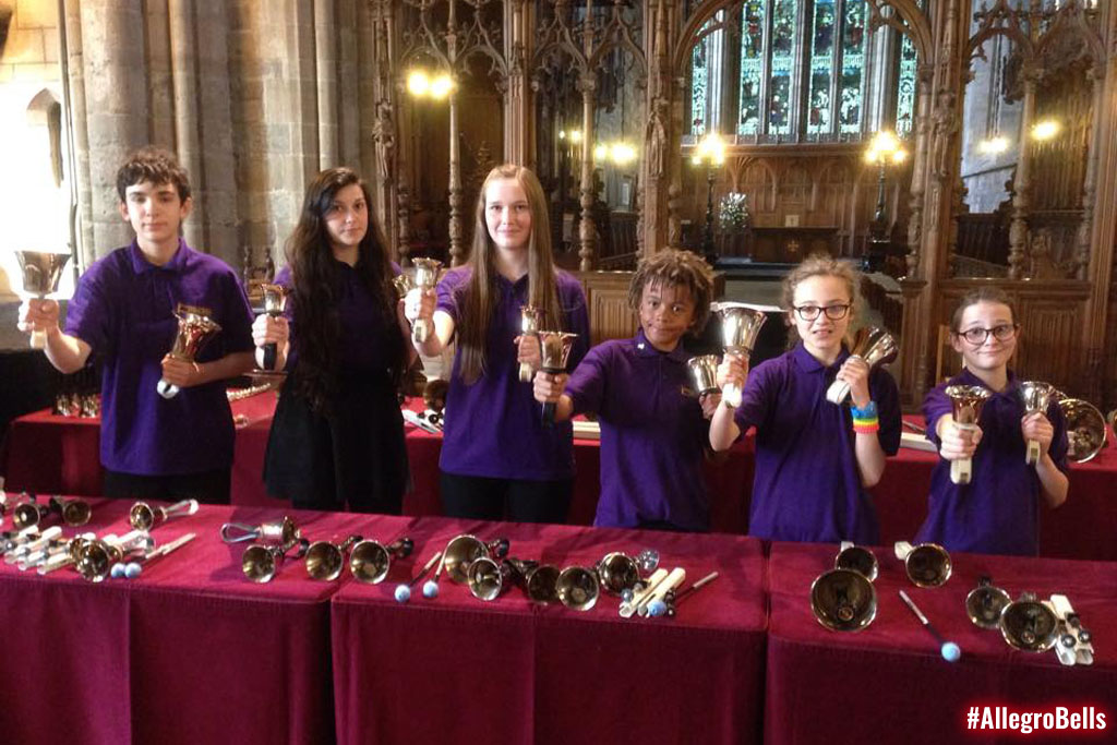 Dunblane Cathedral's youth handbell ensemble played some very energetic music!