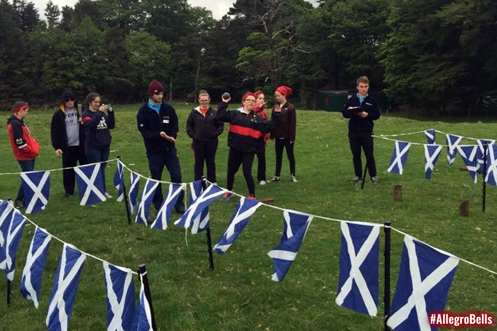 Allegro plays traditional Scottish games...and a few people end up stinkier than the rest.